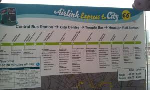 rijschema Airlink bus