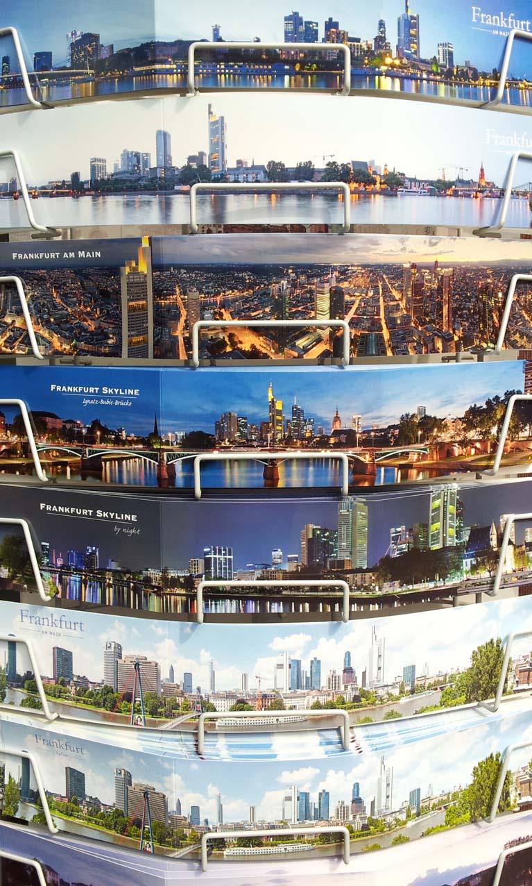 Dit kaartenrek toont Frankfurt in al zijn facetten © Wilma Lankhorst