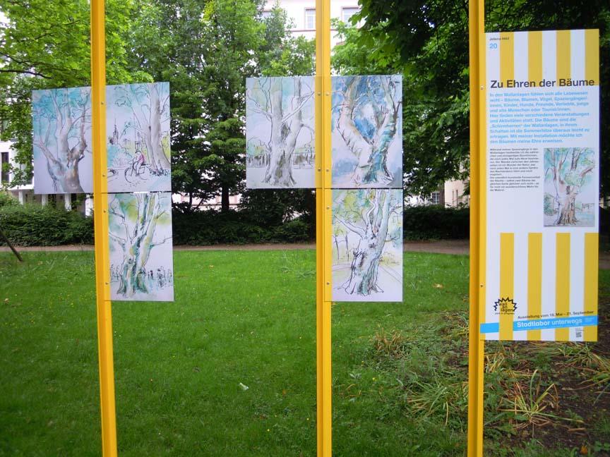Tijdelijke expositie in het park-liefde voor de bomen © Wilma Lankhorst