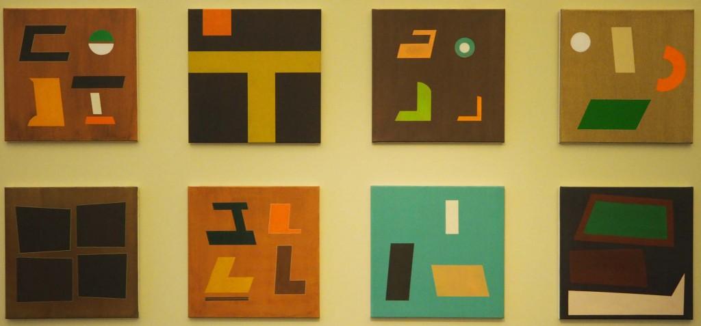 Serie van 8 door kunstschilder Freek Sanders in Nijmegen