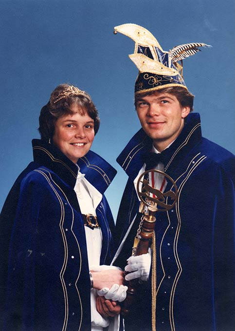 Carnaval 1987 Prins Martin 1 en Prinses Wilma
