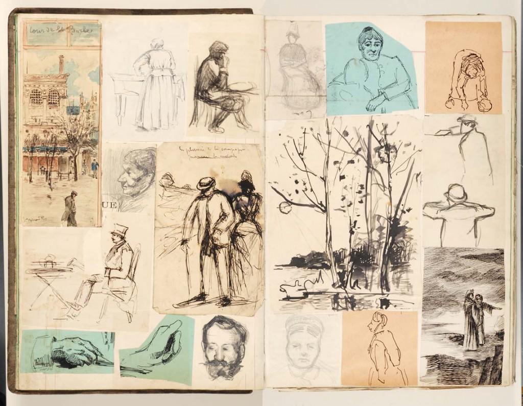 pagina uit schetsboek Emile Bernard_Bremen