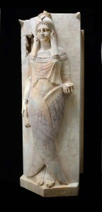 Sarcofaagdeksel met gevleugelde dame Carthago Leiden