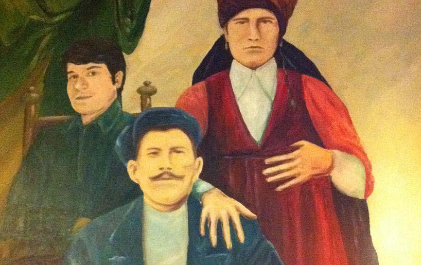 Hanzestad Deventer restaurant Safak - schilderij familie