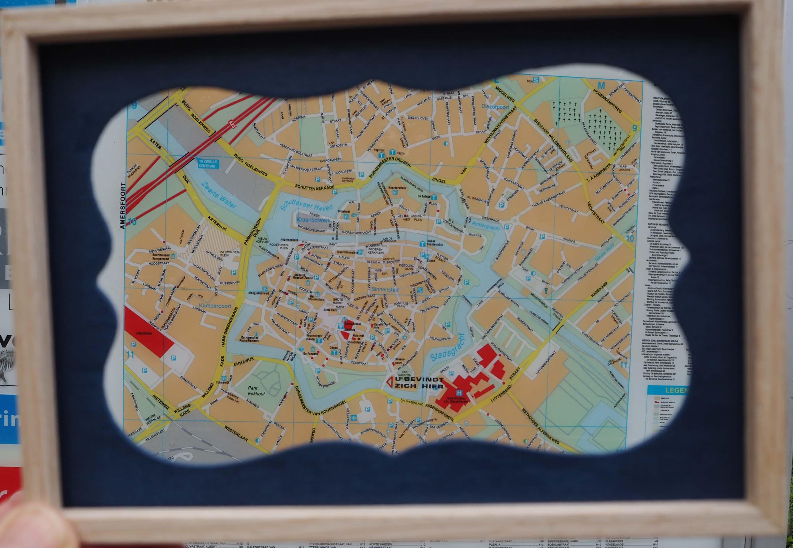 Vestingsmuren in Zwolle bepalen nog steeds het patroon van de historische binnenstad © Wilma Lankhorst