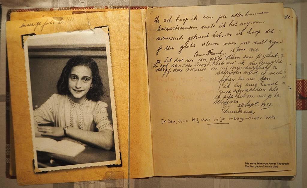 Dagboek Anne Frank - eigendom Anne Frank Stichting Basel