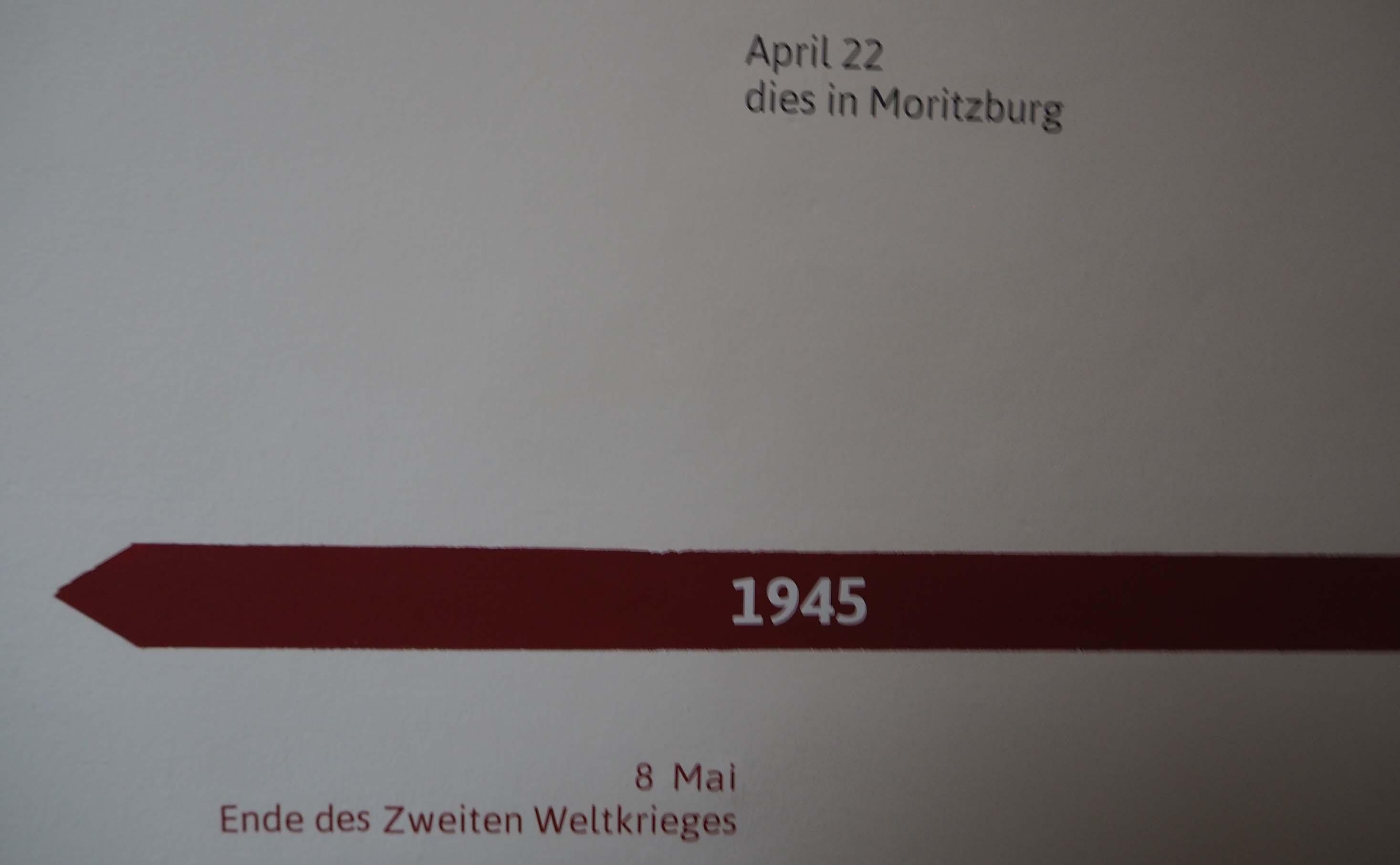De rode tijdslijn wijst je de weg in het Käthe Kollwitz Museum in Berlijn © Wilma Lankhorst