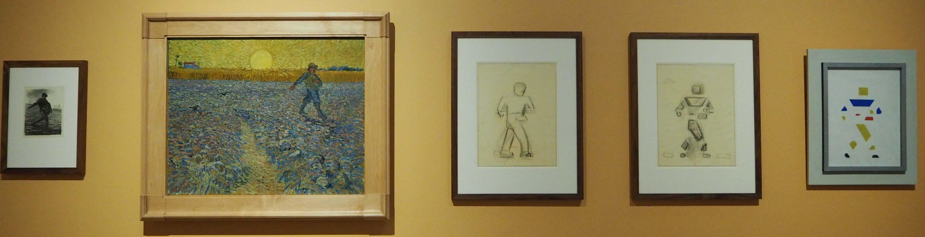 Vijf werken van de Zaaier - Millet, Van Gogh en drie maal Bart van der Leck © Wilma Lankhorst