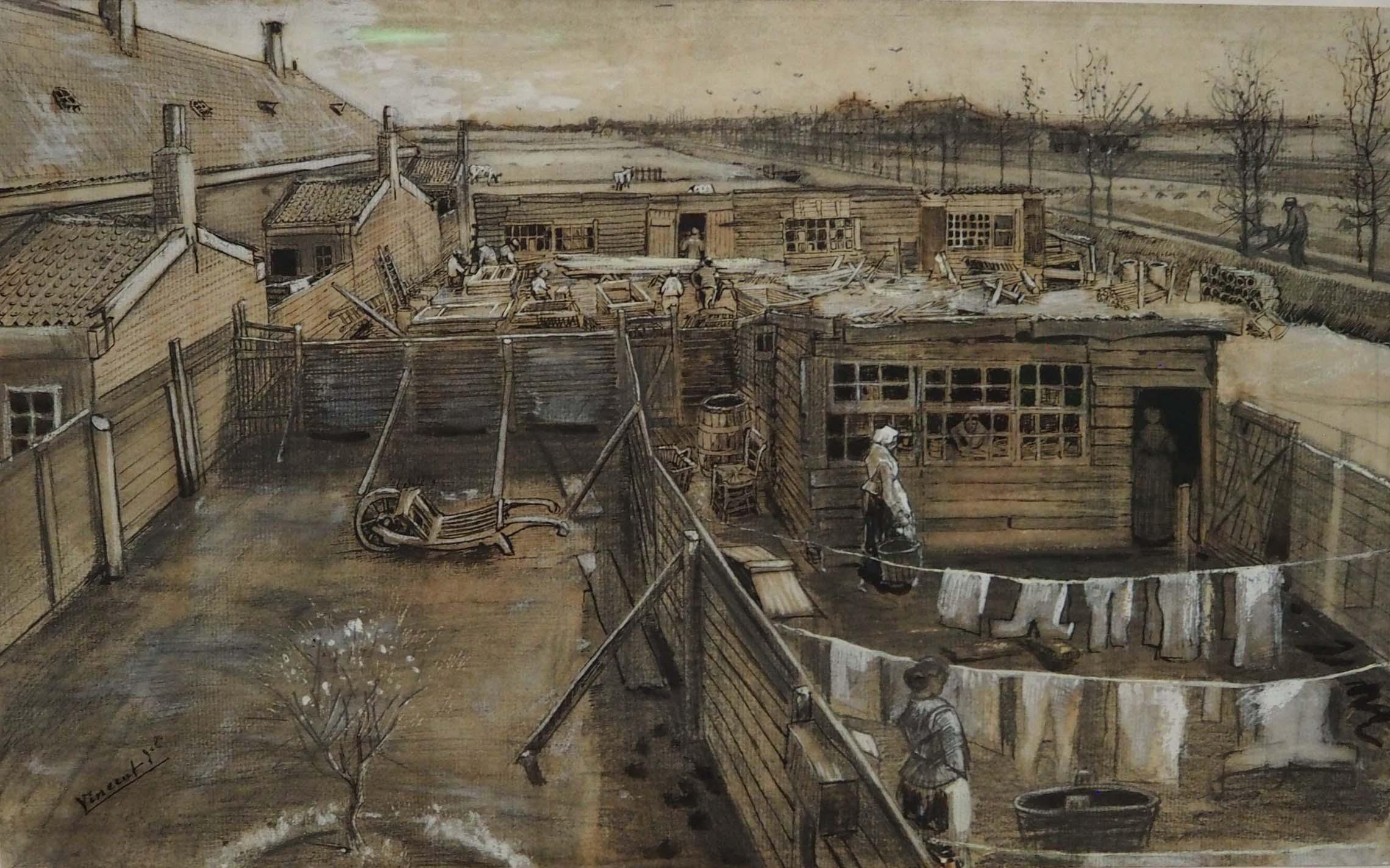 Vincent van Gogh gouache Timmermansloods en wasserij collectie Kröller Müller Museum © Wilma Lankhorst