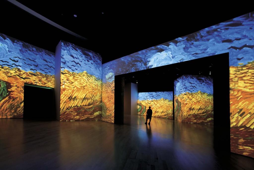 Van Gogh Alive Graanveld met kraaien Berlijn