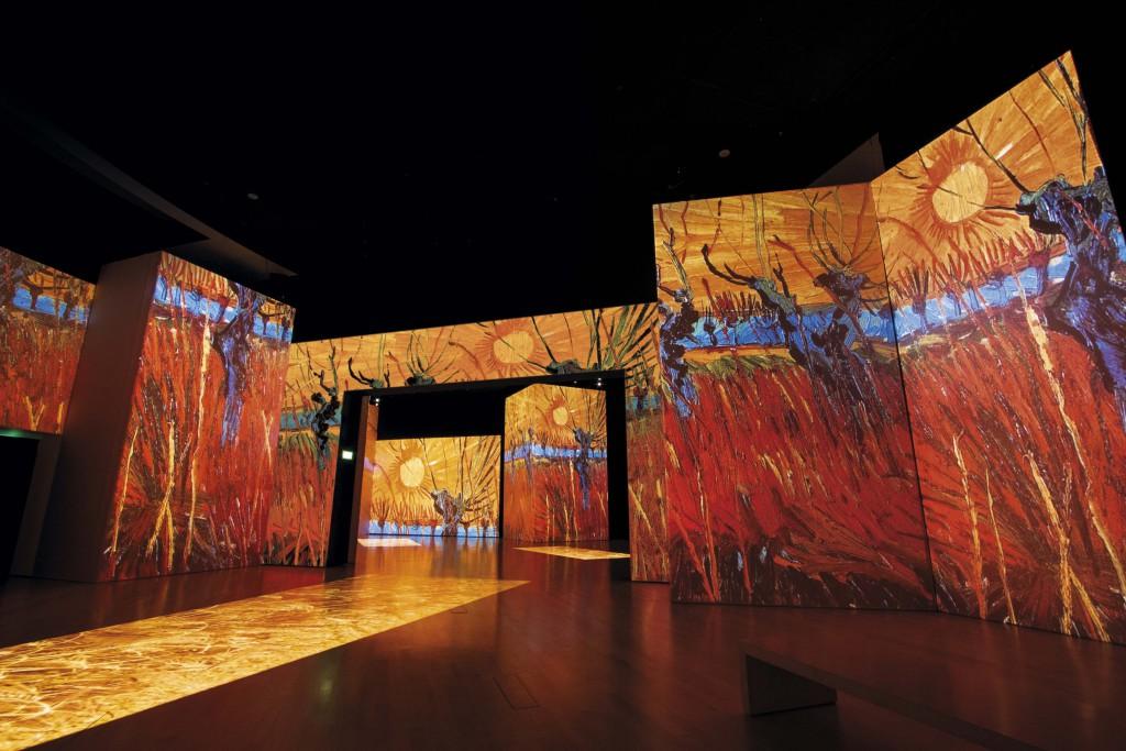 Van Gogh Knotwilgen en prachtige klassieke muziek in Van Gogh a live Berlijn