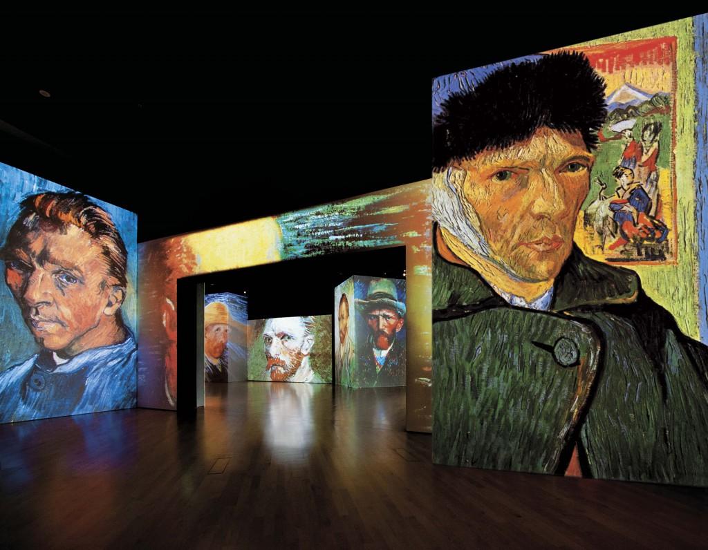 3D museum Van Gogh Alive Berlijn zelfportretten