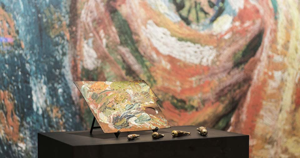 Amsterdam Van Gogh Museum palet door Jan Kees Steenman