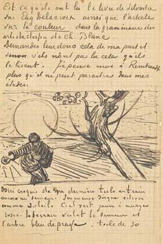 Amsterdam Van Gogh Museum voorbeeld brief van Van Gogh de zaaier