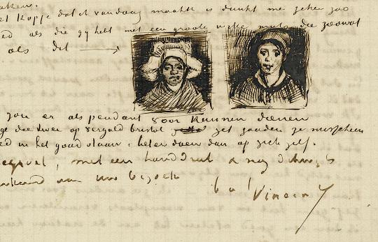 Amsterdam Van Gogh Museum voorbeeld brief van Van Gogh