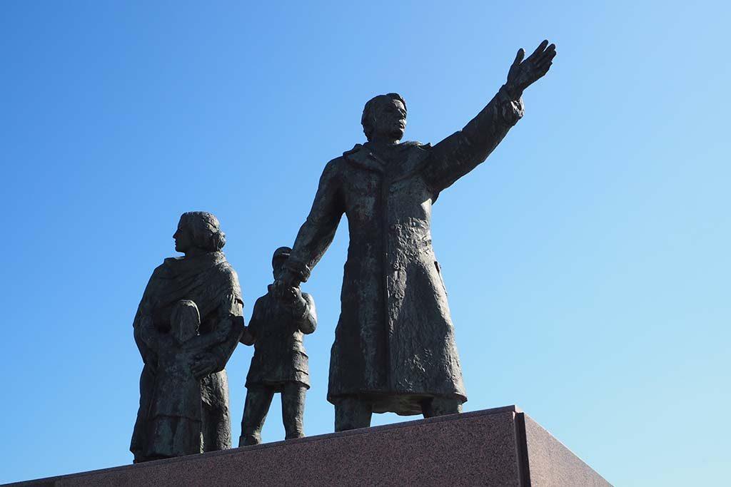 Bremerhaven monument voor de Duitse emigranten foto Wilma Lankhorst