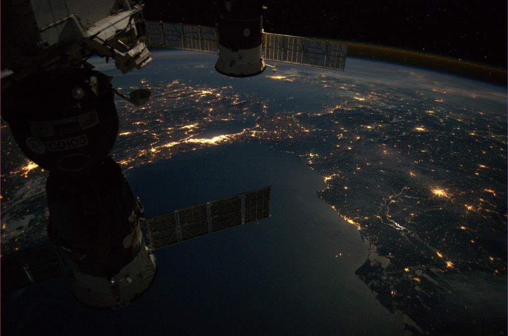 Avond in Istanbul -foto André Kuipers vanuit ISS - ESA