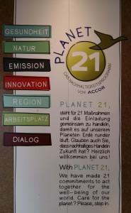 Ibis /Accor is deelnemers Planet 21 programma - duurzaam toerisme © Wilma Lankhorst