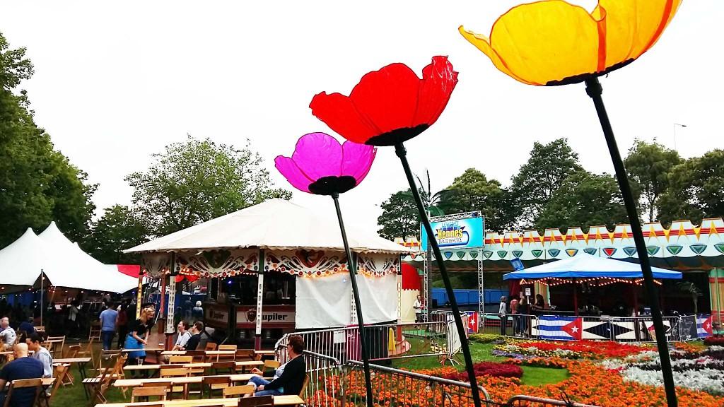 hennes latin stage tijdens 4daagse feesten in Nijmegen