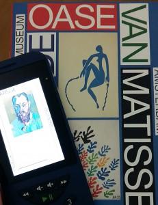 Matisse-audiotour en boekje met uitleg blauwe parkiet