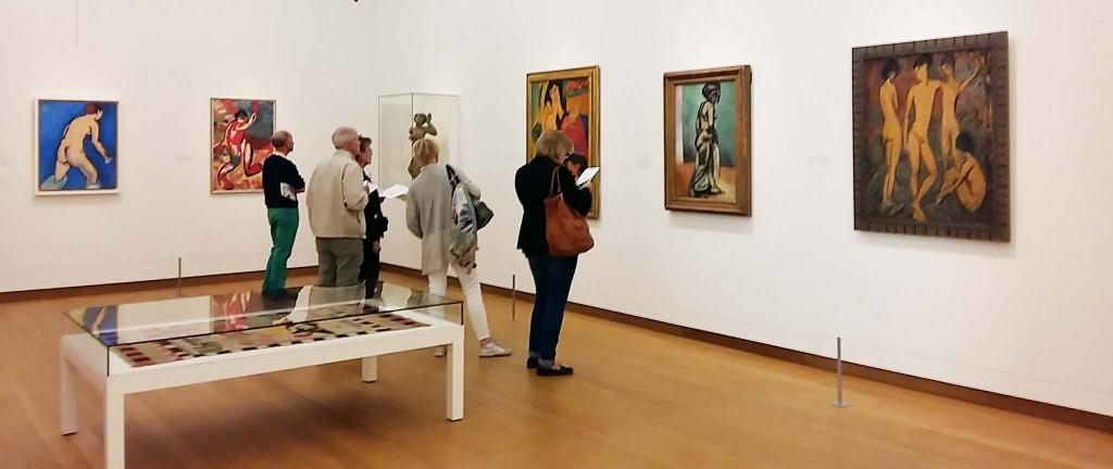 Matisse-zaal-3-de baadster van Matissen-en de  bader van Kirchner