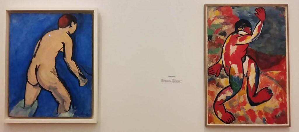 Matisse-zaal 3 de blauwe bader van Henri Matisse en reactie van Malevich © Stedelijk Museum Amsterdam