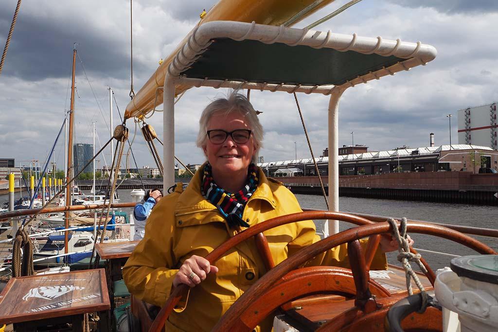 Nautische sfeer opsnuiven aan boord van Alexander von Humboldt I in Bremen © Wilma Lankhorst