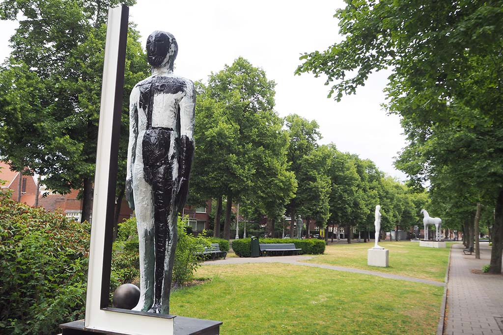 Mimmo Paladio tijdens ARTZUID 2015 in Amsterdam foto Wilma Lankhorst