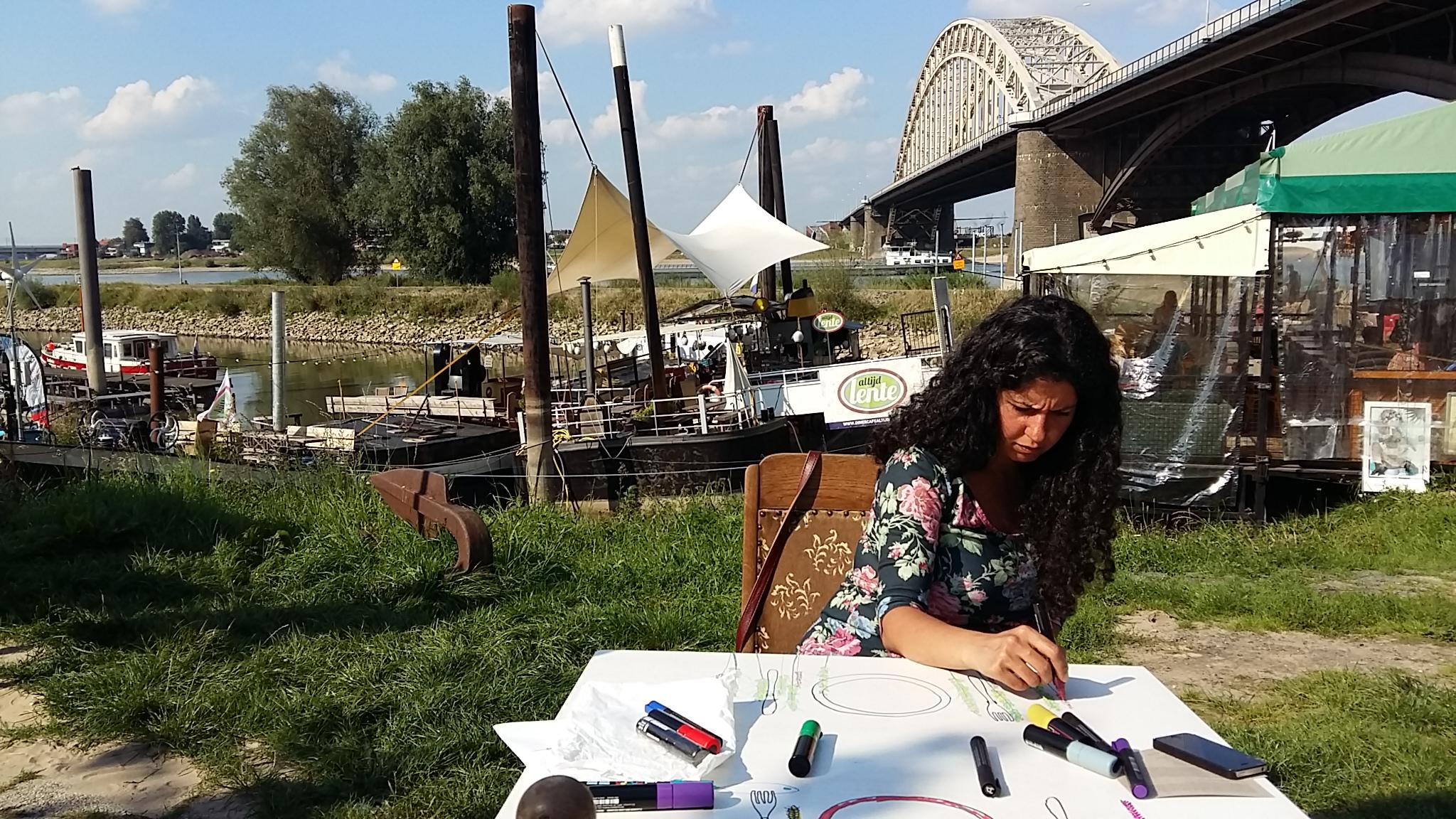 De Kaaij is onderdeel van The Big Draw Nijmegen 2015