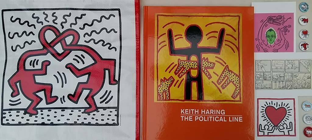De lijntekeningen van Keith Haring zijn populair als cadeau