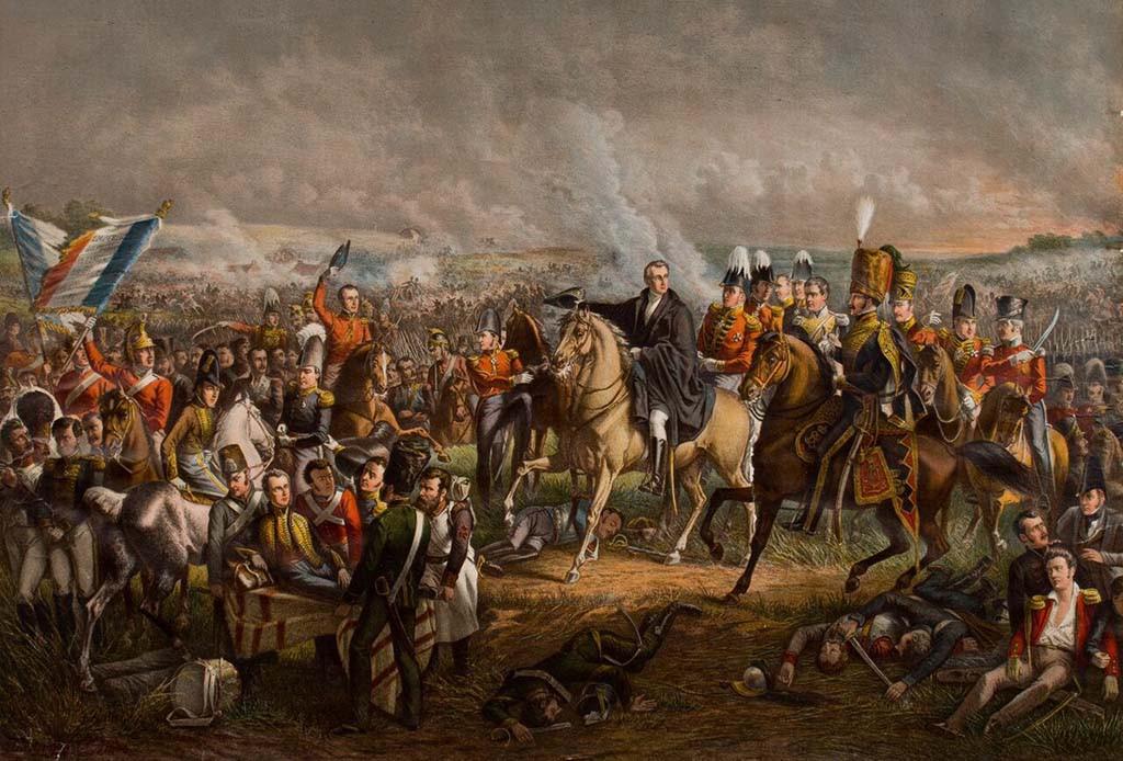 1815 Slag bij Waterloo - Pieneman collectie Stedelijk Museum Zwolle