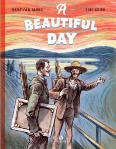 omslag Een-prachtige-dag kinderboek over Van Gogh en Munch