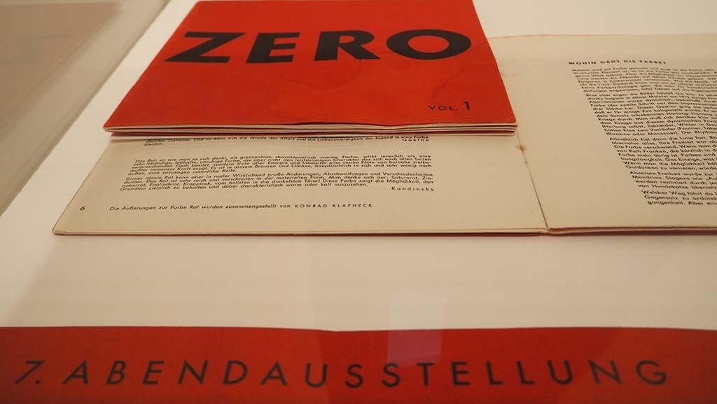 ZERO is naast een internationale kunstbeweging ook een tijdschrift © WL