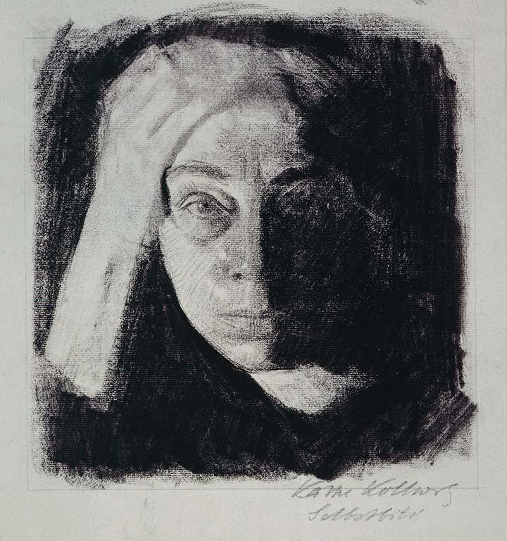 Kathe Kollwitz 1910 zelfportret © Käthe Kollwitz Museum Keulen