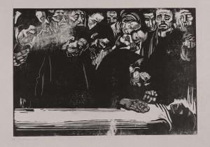 Kathe Kollwitz serie afscheid van Karl Liebknecht - houtsnede 006_Kn-159-I