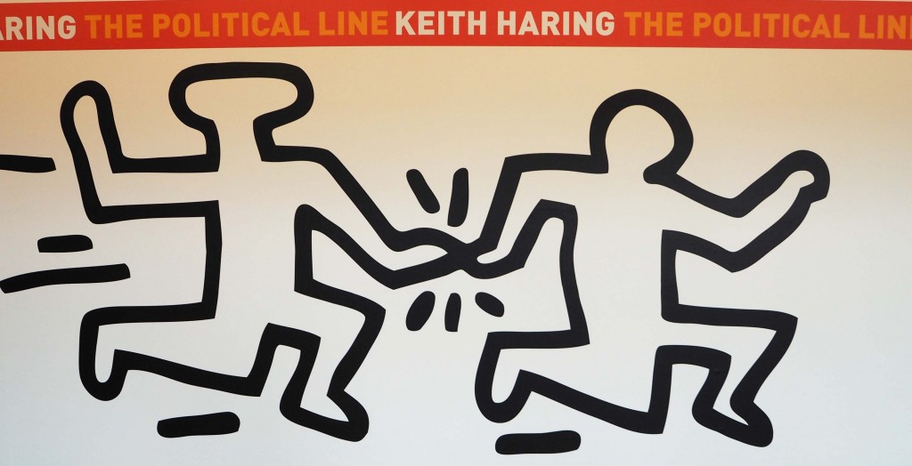 Keith haring The political Line in de Kunsthal in Rotterdam