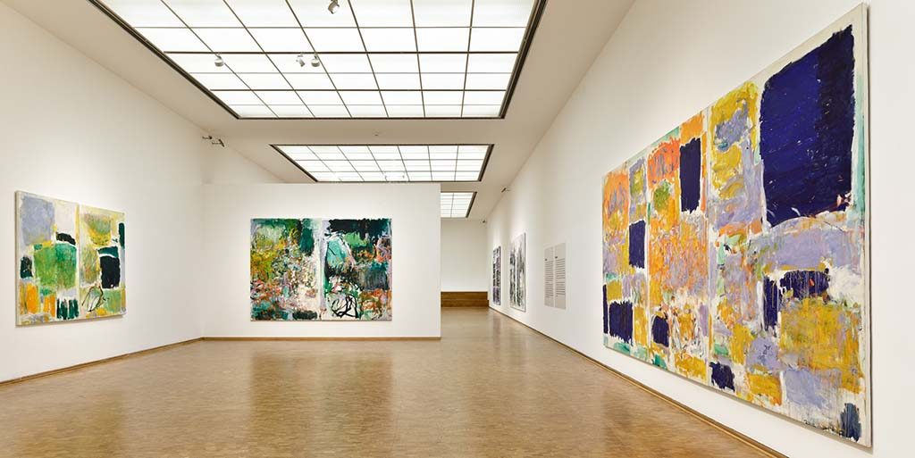 Museum Ludwig, Installationsansichten, Ausstellung, Joan Mitchell, Retrospective. Her Life and Paintings, ML, Köln