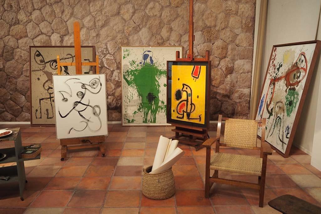 Voor Miro en Cobra is een deel van de Miro studio nagebouwd © foto Wilma Lankhorst