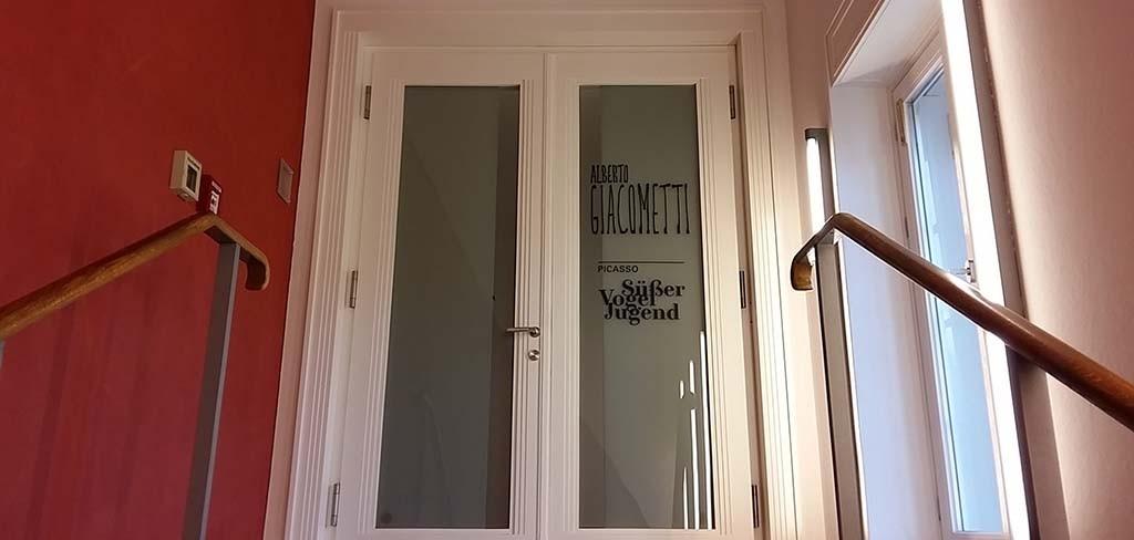 Entree expo Alberto Giacometti en Picasso in Münster