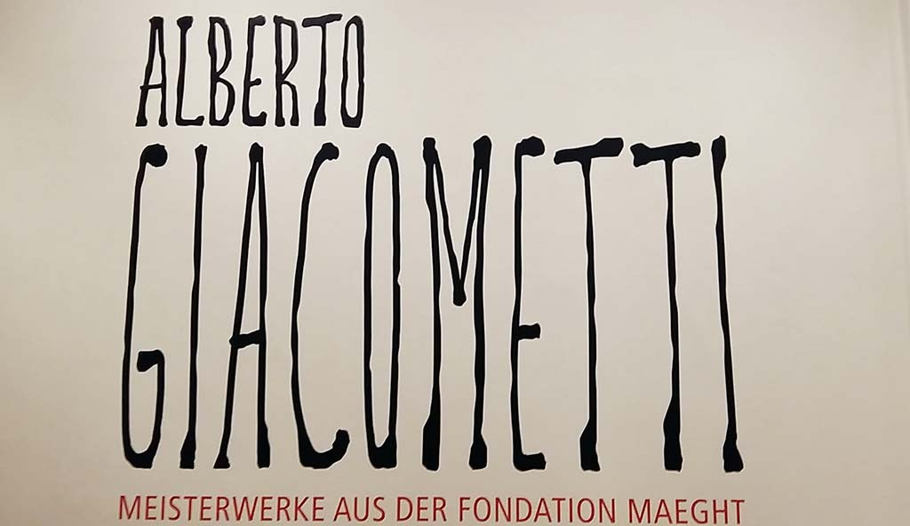 Poster tentoonstelling Alberto Giacometti Kunstmuseum Pablo Picasso in Müster