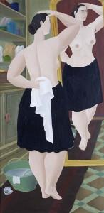 Ferdinand Erfmann, Vrouw voor spiegel, 1953 - bruikleen Stedelijk Museum Amsterdam
