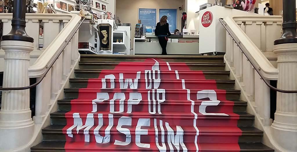2016_DWDD 2e Pop Up Museum entree trap Allard Pierson Museum Amsterdam © Wilma Lankhorst