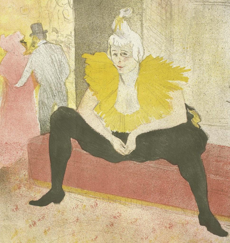 De zittende clown (1896) Prentenserie Elles Henri Toulouse_Lautrec Collectie Van Gogh Museum nu digitaal te zien