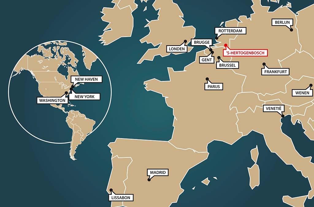 2016_Wereldkaart met Bosch-cities-network