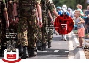 Museum het Valkhof_de 100ste 4Daagse_Militairen_publiek_vanaf 28 mei 2016