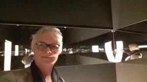 selfie Wilma in de spiegelkamer Philippe Halsman Kunsthal Rotterdam