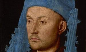 Noorbranbants Museum Man_met blauwe kaproen_Jan_van_Eyck_coll. Muzeul National Brukenthal