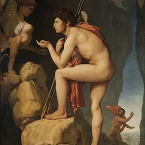 Oedipus geschiklderd door Ingres coll Musee Louvre Lens