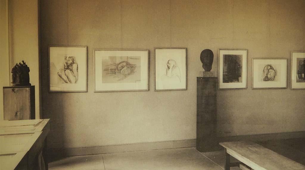 Zaaloverzicht Käthe Kollwitz in New York - Kollwitz Museum Keulen foto Wilma Lankhorst