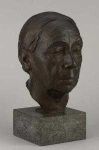 Käthe Kollwitz portert in brons coll The Baltimore Museum of Art;
